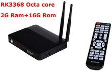 5pcs/lot CSA91 Android 5.1 LOLLIPOP TV Box RK3368 Octa Core 2G+16GB 4K Smart tv box 3 USB Port BT 4.0 WiFi 2 antenna