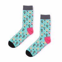 VVQI 2018 Men Funny Socks Cotton Hip Hop Hot Air Balloon Harajuku Fashion Dress Art Socks