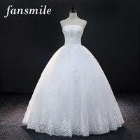 Fansmile Tulle Mariage Vestido De Noiva Lace Ball Wedding Dress Custom made Plus Size Bridal Weddingdress Gowns FSM 416F
