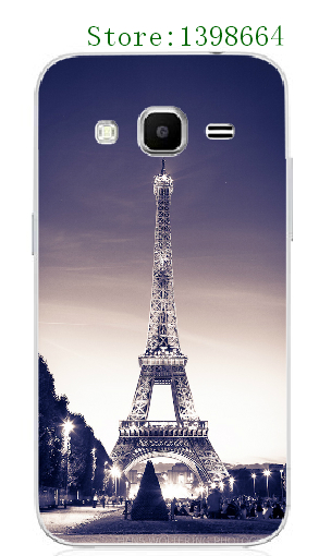 Online-custom Plastic Mobile Phone Case Cover for Samsung Galaxy J3 Fashional Hot Eiffel Tower White Hard Cases free shipping