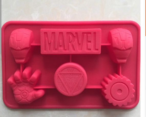 Silicone iron man Cake Chocolate Soap Pudding Jelly Candy Ice Cookie Biscuit Mold Mould Pan Bakeware