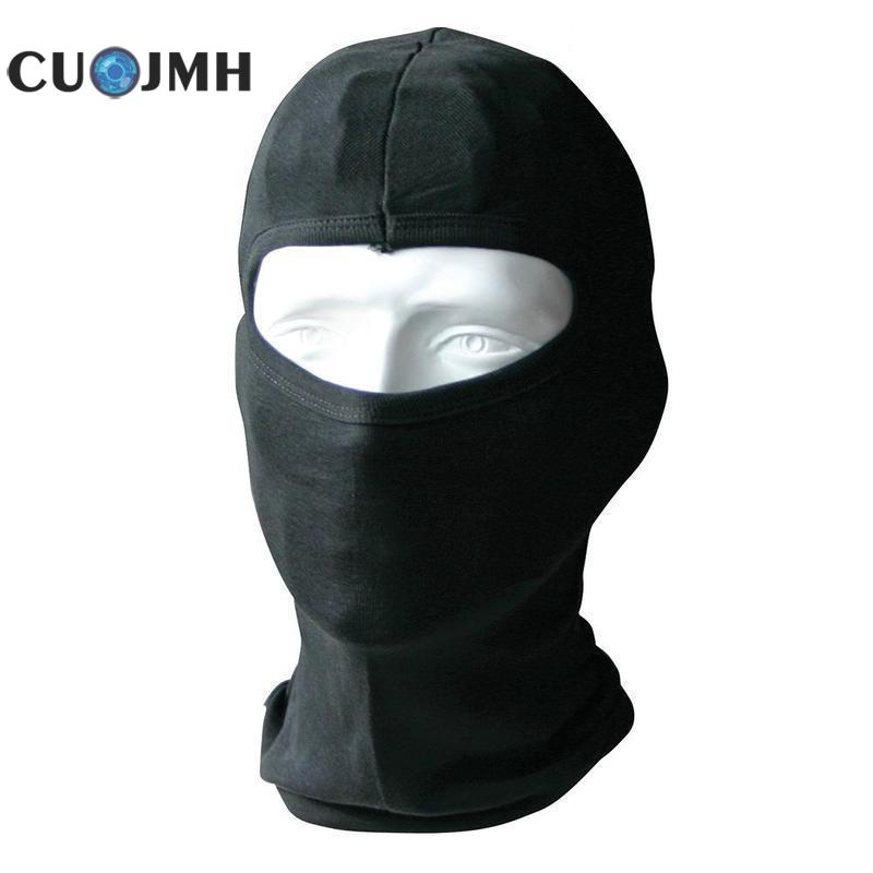 Black Pure Cotton Outdoor Cycling Windproof Mask Head Cover Personal Protection Tools Moisture Absorption Sweat Helmet Lining naturehike outdoor anti mosquito head protection mesh fabric head cover mask black