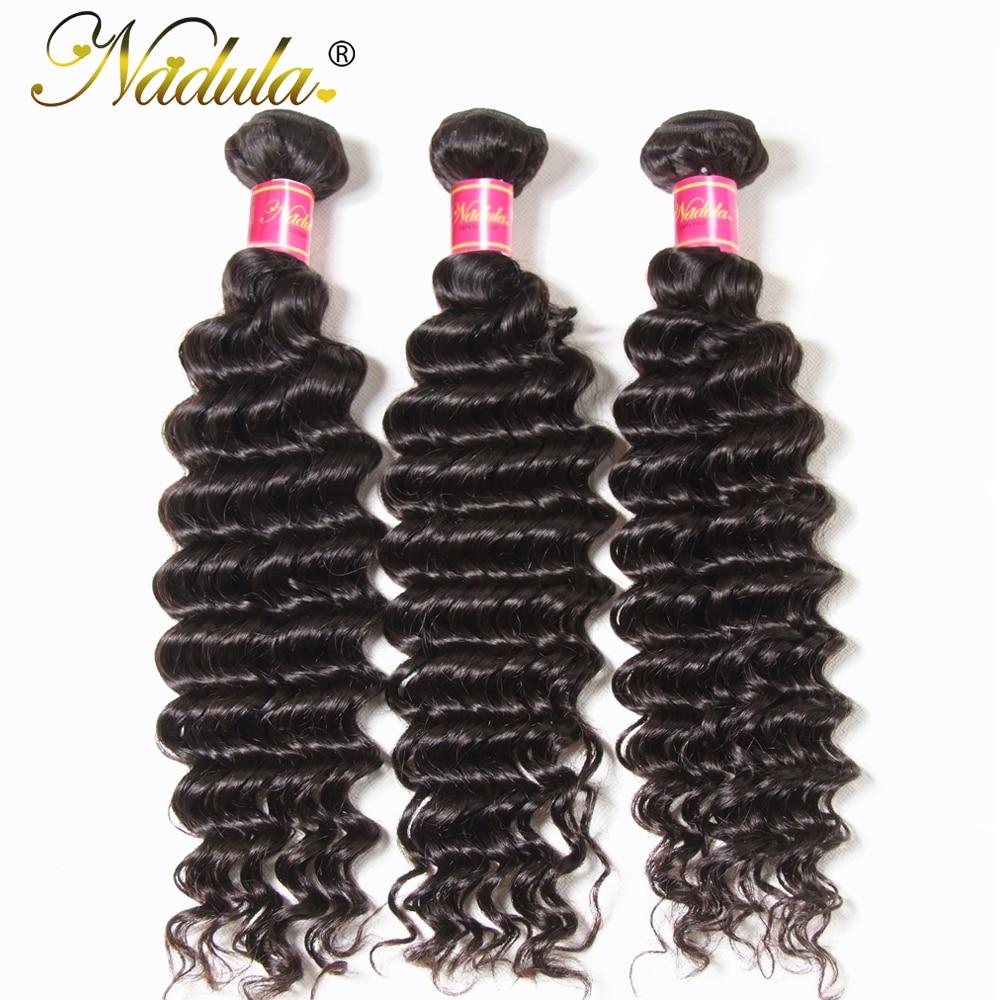 Nadula Hair 3 Bundles  Hair Deep Wave 12-26inch 100%   Bundles Natural Color  Hair s 1