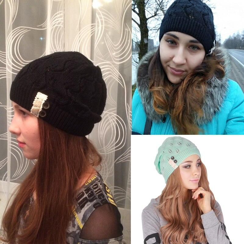 5961148f5 Kobiety Knitting kapelusz czapki zimowe dla kobiet oryginalne kapelusz  ręcznie dzianiny ciepła czapka damskie wysokie elastyczne czapki czapki  nakrycia ...