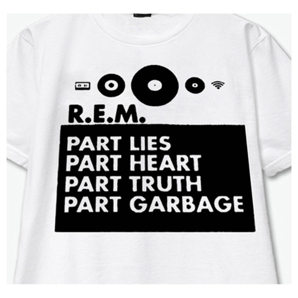 R.E.M. classic rock live lose my religion everybody hurts man on the moon rock fashion black ans white t shirt