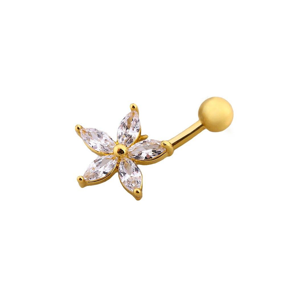 Piercing Jewelry Reverse Triangle Black Rhinestone Dangle Navel