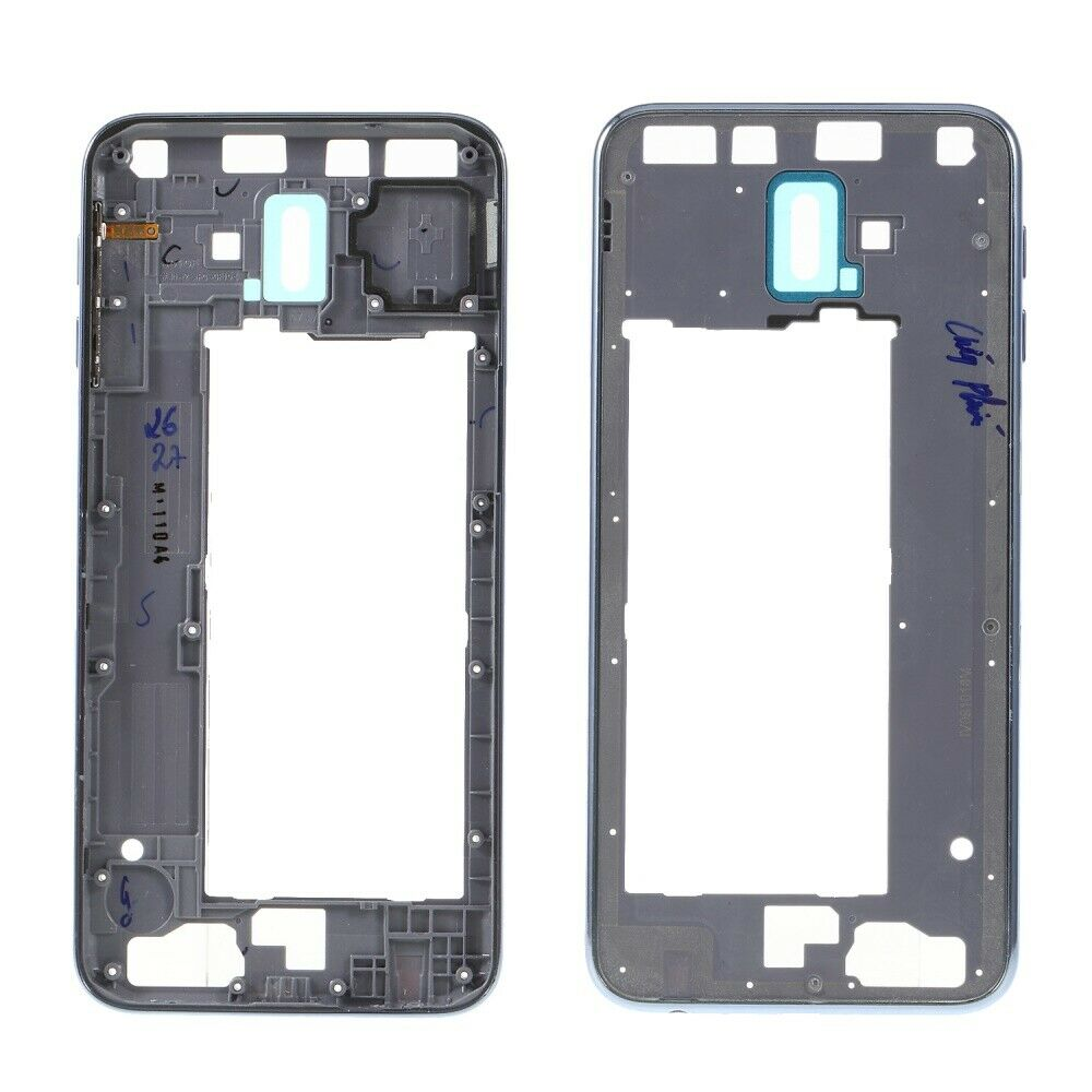 For Samsung Galaxy J6 Plus J6+ 2018 SM-J610 Deep Blue/Baby Blue/Red Color Rear Back Housing Frame Plate Middle Cover