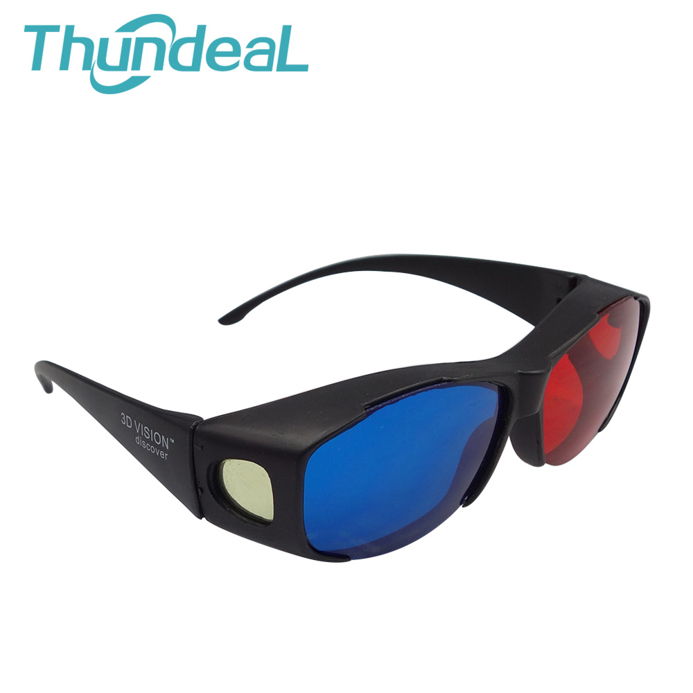 6PCS Retail <font><b>Red</b></font> <font><b>Blue</b></font> <font><b>Plasma</b></font> <font><b>Plastic</b></font> 3D <font><b>Glasses</b></font> TV Movie Dimensional Anaglyph Projector Framed 3D Vision High Qualityl type Cyan