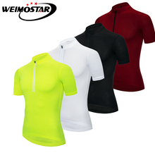 Cycling Jersey Pure Color MTB Bike Bicycle Shirt Outdoors Sports Short  Sleeve Men Wear Summer Quick 15b76b138a81