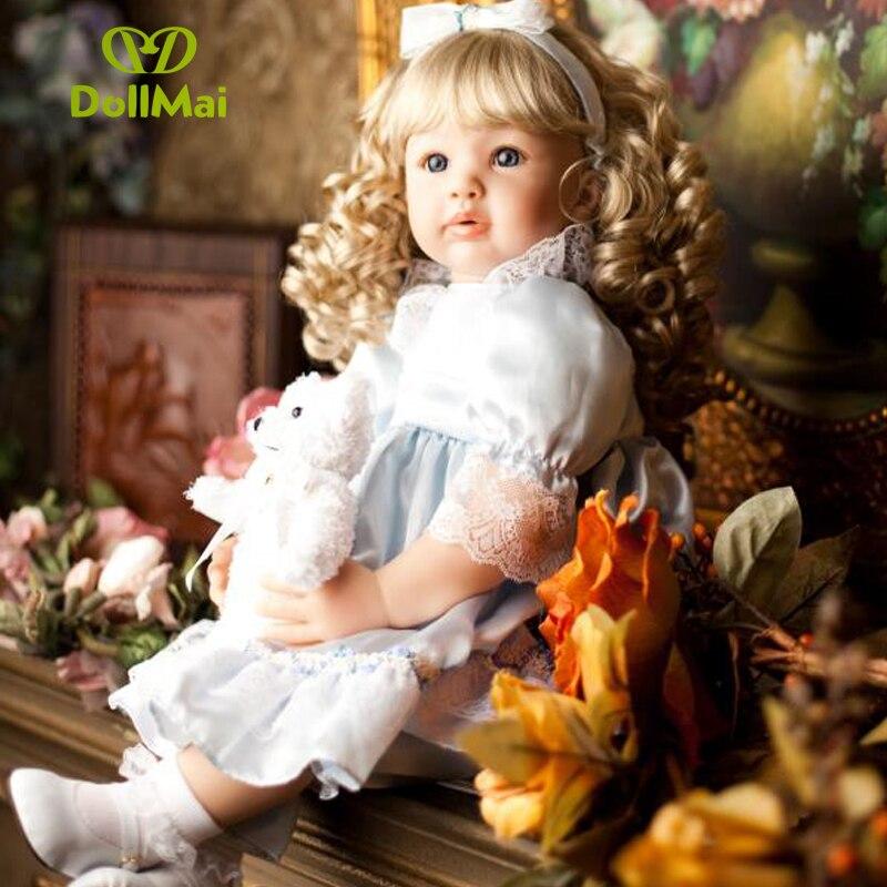 60 cm Silicone Reborn bébé poupée jouets 24 pouces princesse enfant en bas âge lol original reborn bébé poupées filles Brinquedos jouer maison jouets - 2