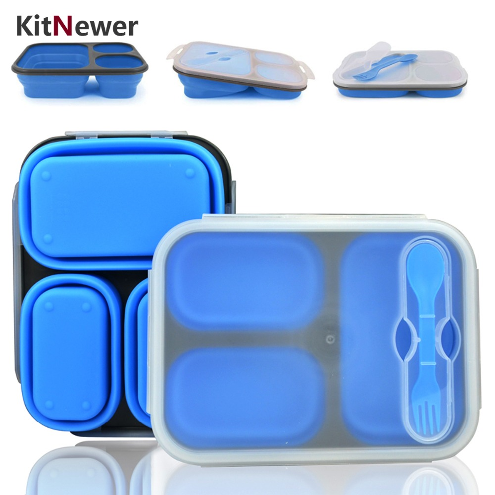 buy portable lunch box silicon. Black Bedroom Furniture Sets. Home Design Ideas
