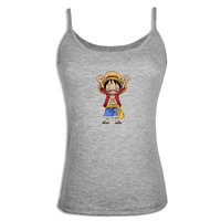 Anime ONE PIECE Monkey D Luffy Print Camisole Casual Camis Tank Top Lady Girl Femme Japanese
