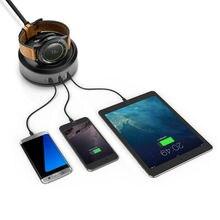 Для Передачи S3 Беспроводной Зарядки Стенд, 3-портовый USB Настольное Зарядное Устройство Док Зарядное устройство Стенд для Передач S3 Границы/S2 Классический
