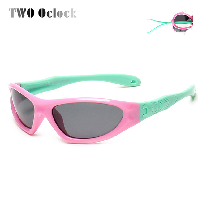 727ad29fc452 TWO Oclock Kids Baby Safety Polarized Sunglasses TAC Child Sun Glasses Girl  Boys Outdoor Goggles Polaroid Sunglass Infant S873