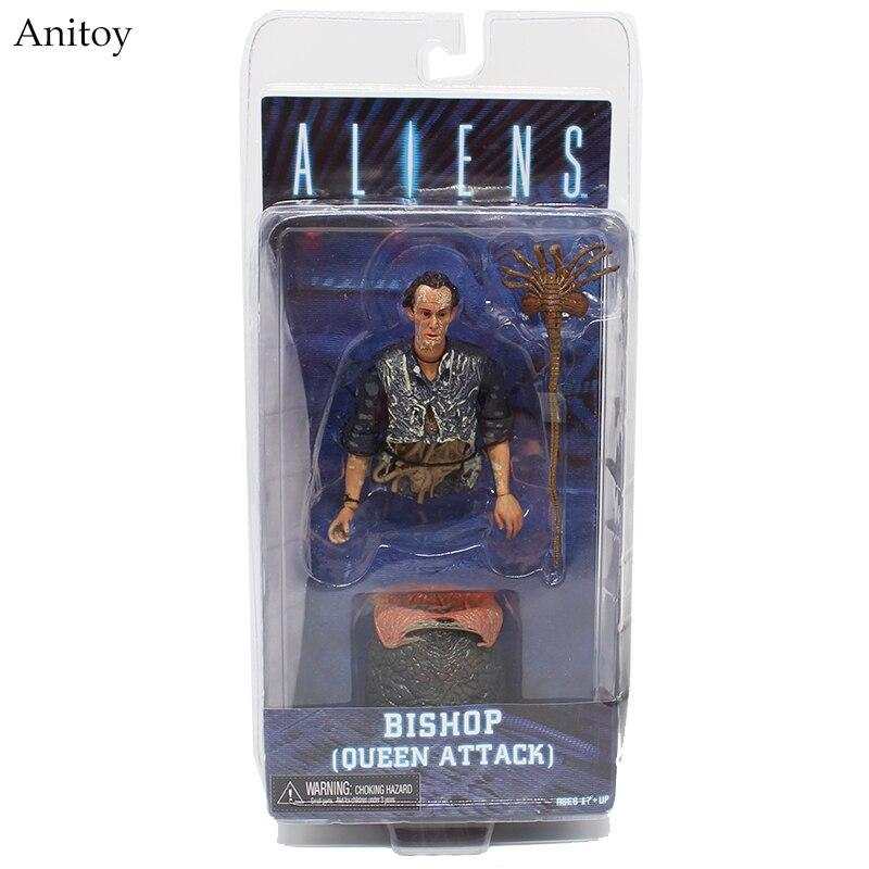 Aliens Series Alien Queen Bishop Queen Attack PVC Figure Collectible Model Toy 9cm KT4003 neca aliens kane dog alien bishop pvc action figure collection model toy 7 18cm