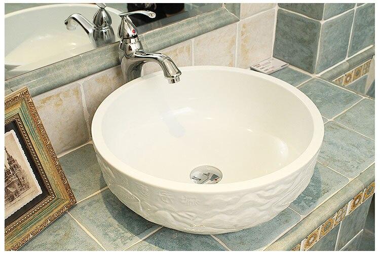 Grote Wastafel Badkamer : China hand gesneden de grote muur ontwerp keramische wastafel voor