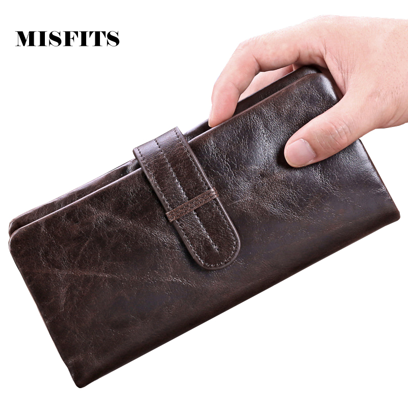 Vintage Men Wallets Purse With Coin Pocket Genuine Leather Wallet Men Male Wallets Card Holder Men's Wallets Carteira Masculina