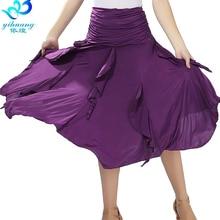 Faldas de baile de vals para salón, trajes de práctica de Tango, Salsa, Samba, banda elástica, envío gratis, n. ° 2547