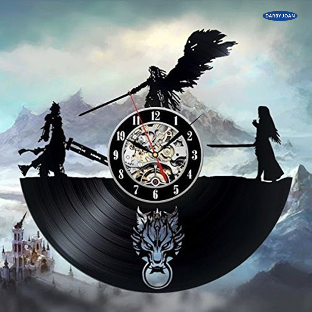 Final Fantasy 7 Abenteuer Anime PS PC Spiele Schallplatte Wand uhr ...