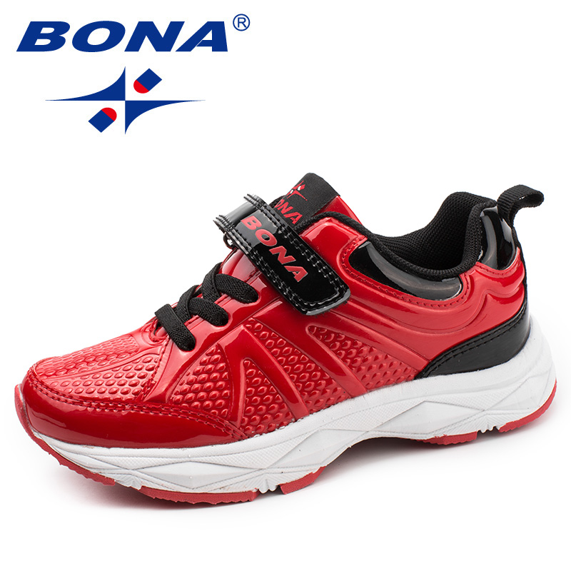 BONA New Arrival Typical Style Children Casual Shoes Synthetic Boys Running Shoes Hook & Loop Girls Fashion Sneakers Shoes