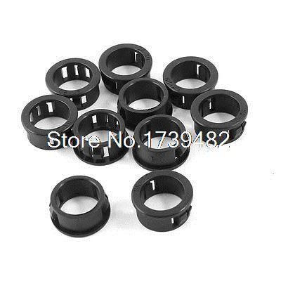 10pcs Plastic Round Cable Harness Protective Snap Bushing 20mm Panel Hole Dia