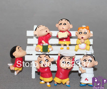 High Quality Baby Toys PVC Naughty Shin-chan  Anime Cartoon Crayon Shin chan action figures 7pcs/set Free Shipping
