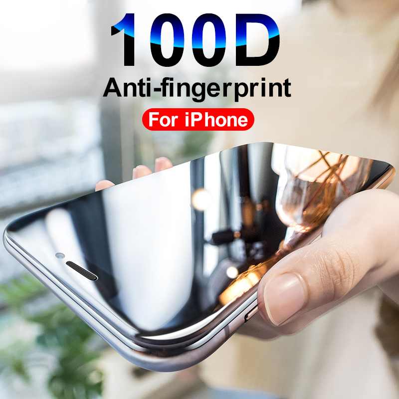 100D Protective Glass For On IPhone 5 SE 6 7 8 Plus For IPhone X XR XS Max Screen Protector Tempered Glass On IPhone 7 Plus Film