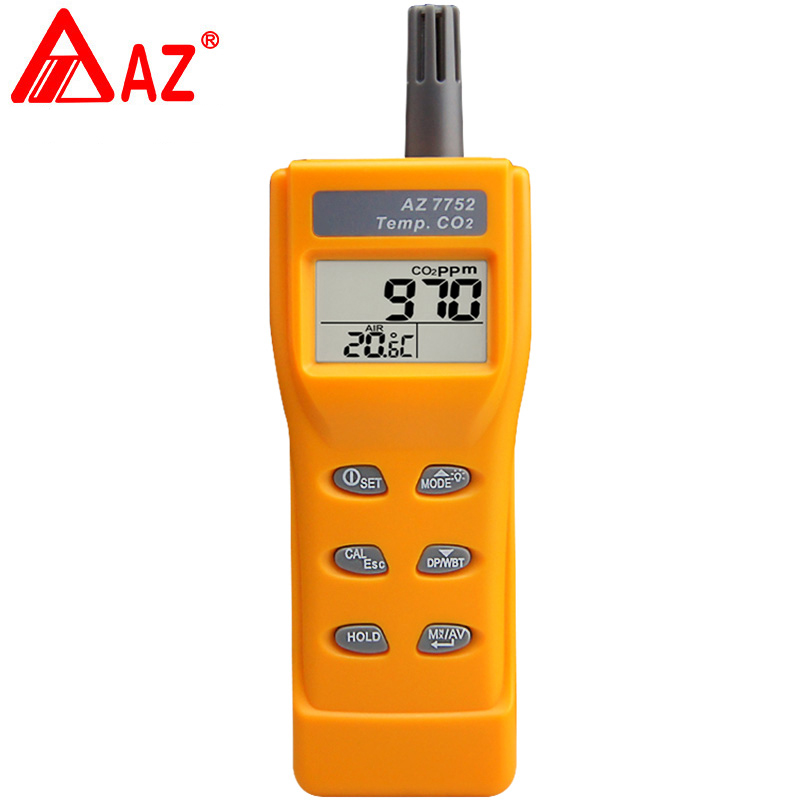 AZ7752 carbon dioxide gas concentration detector Handheld carbon dioxide detector meter (including temperature) CO2 Meter portable handheld carbon dioxide detector precision co2 meter high quality gas detector tester