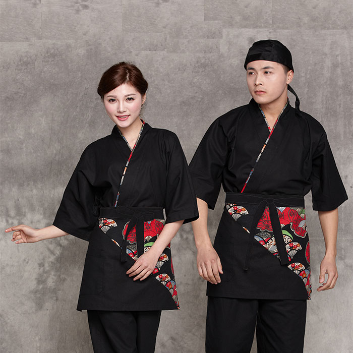 Japan Style Chef Uniform Japanese Chef Service Kimono Working Wear Restaurant Work Clothes Tooling Uniform Japan Chef Jackets 9#