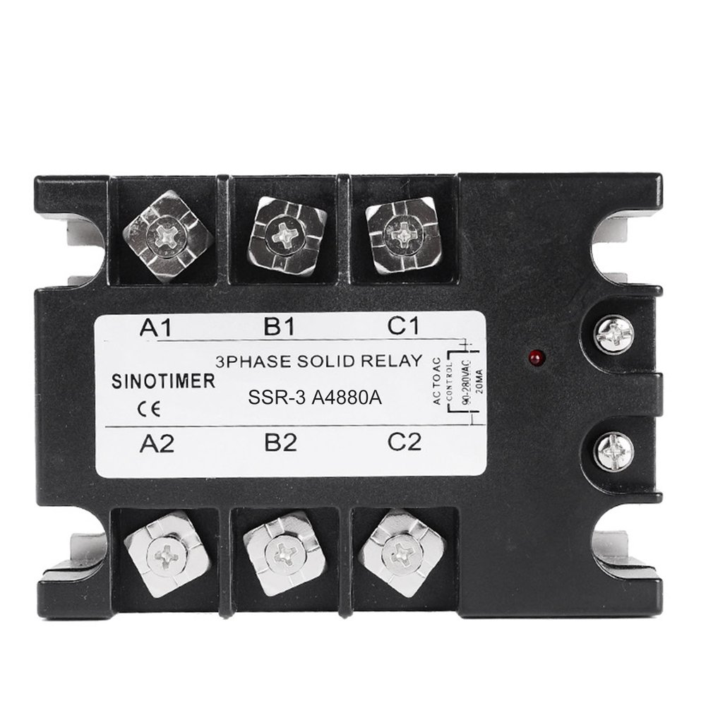 DC-AC de relais à semi-conducteurs SSR-3D4810A 25A 40A 60A 80A 100A 3-32VDC à 30-480VAC courant de charge triphasé pour le contrôle de la température