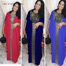 Kaftan Plus Size Dress Women Summer 2019 Burgundy Robe Loose Casual Muslim Blue Ladies Party Long Dresses Pareo