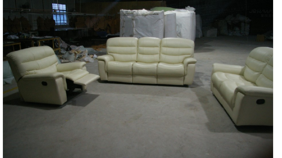 2015 living room modern sofa recliner sofa leather sofa with console 8056