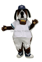 mascot Cool White Coate St. Bernard Dog Mascot Costume Advertising Brown Dog Mascotte Outfit Suit Cosply Carnival Costume