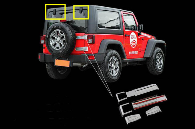 exterior Accessories for jeep wrangler rear door tailgate ...