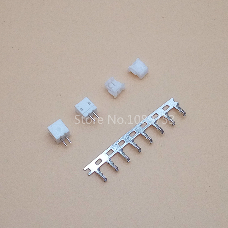 100 Sets JST ZH 1.5mm 2-Pin Male, Female Connector socket with crimps