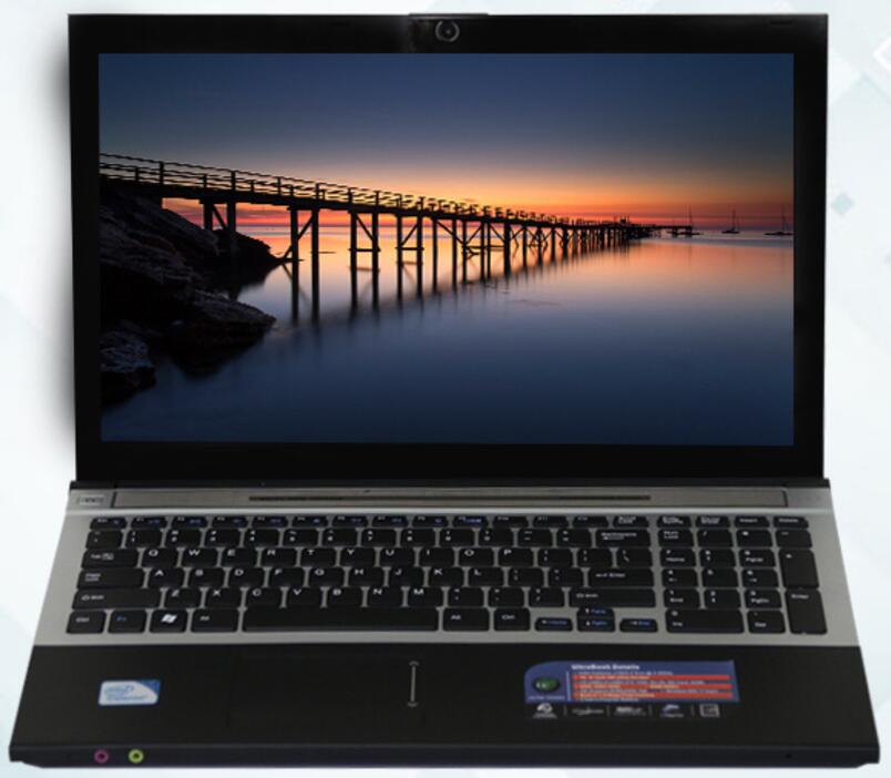 8G RAM+60G SSD and 750G HDD Intel Core <font><b>i7</b></font> Dual-core Laptop 15.6inch 1920x1080P Windows 7/10 <font><b>Notebook</b></font> With DVD-RW For Office Home image