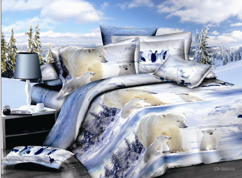 polar bear bedding set bedspreads bed covers sheets girls adults babys home decor 4-5 pieces full queen size white colored wovenpolar bear bedding set bedspreads bed covers sheets girls adults babys home decor 4-5 pieces full queen size white colored woven