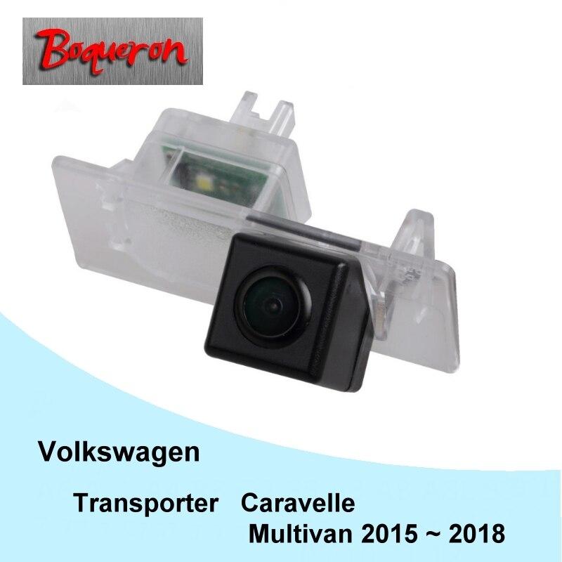 Dla vw T6 Transporter/Caravelle/Multivan 2015 ~ 2018 widok z tyłu samochodu kamera HD CCD Night Vision tworzenia kopii zapasowych do tyłu kamera parkowania