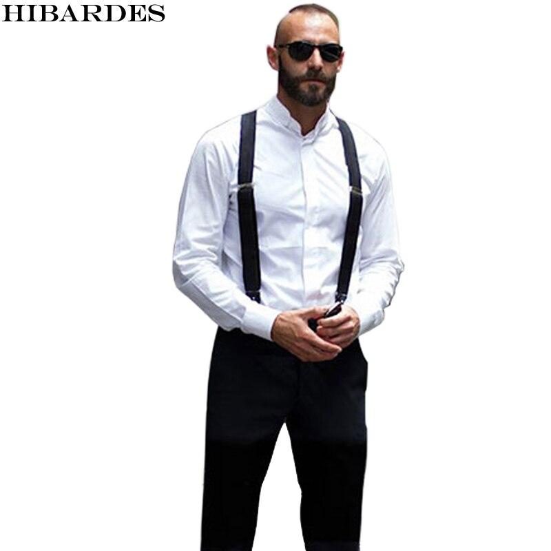 18 farbe männer Hosenträger Hosenträger Unterstützt Elastische Verstellbare Hosen tirantes Kleidung Zubehör suspensorio