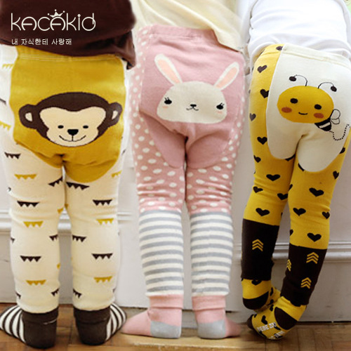 Kacakid Children Tights Pants Set Cute Animal Pattern Girl Boys Pants Tights Set Cotton Dots Kid Girl Children Tights Set Ka1115