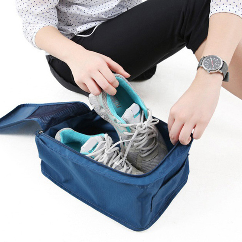 Puimentiua Travel Portable Waterproof Shoes Bag Organizer Storage Pouch Pocket Packing Cubes Handle Nylon Zipper Bag AccessoriesPuimentiua Travel Portable Waterproof Shoes Bag Organizer Storage Pouch Pocket Packing Cubes Handle Nylon Zipper Bag Accessories