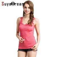 Women Lace Tanks 70 Real Silk 30 Cotton Lace Tank Tops Sleeveless Bottoming Shirt 2017 New
