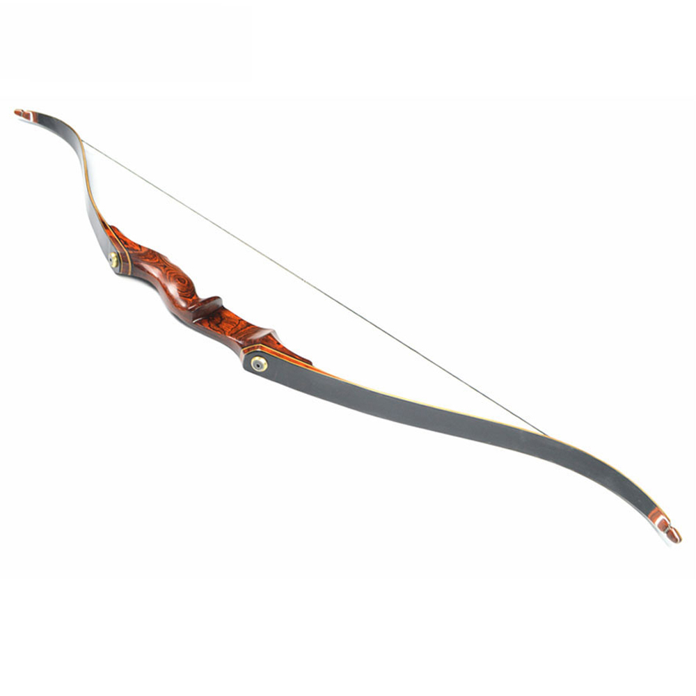 58 Inches American Hunting Recurve Bow 25 55 Pounds with Wooden Handle for Outdoor Archery Hunting