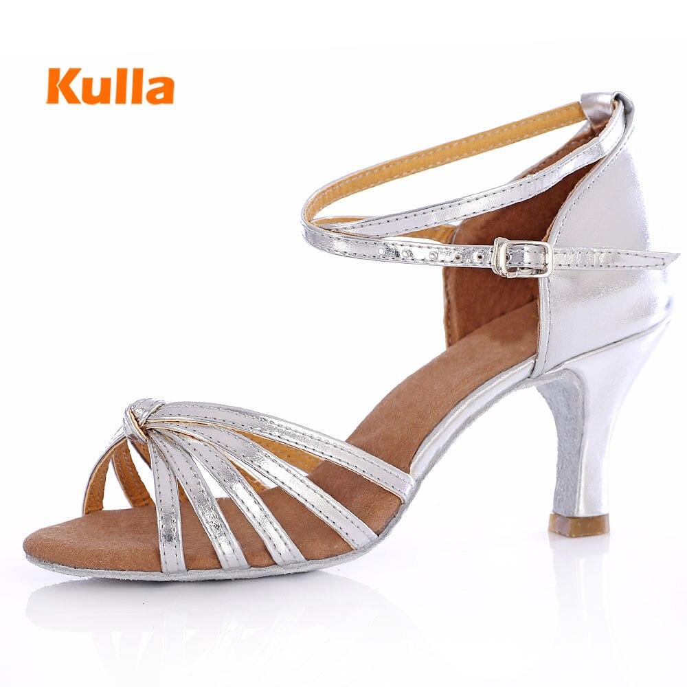 New Wholesale Women's Girls Latin Dance Shoes Salsa Tango Shoes For Women Ballroom Dancing Shoes Sandals 5cm/7cm High Heel Shoes