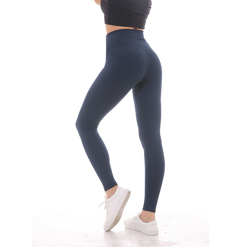 NWT 2018 eshtanga mujer deportes High Rise leggings Super calidad alta cintura elástica sólida 4 vías del estiramiento Pantalones estrechos tamaño XXS-XL