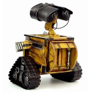 Image 2 - ウォール e ロボット映画モデル冷間圧延鋼金属アクションフィギュア玩具人形 robote 手作り工芸品 juguetes figuras ゴキブリ壁 e