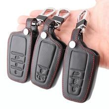 Кожаный чехол для автомобильного ключа, чехол для Toyota Camry Corolla Crown RAV4, высококачественный CHR, Prius, Prado, Fortuner, Land Cruiser 200, LC200