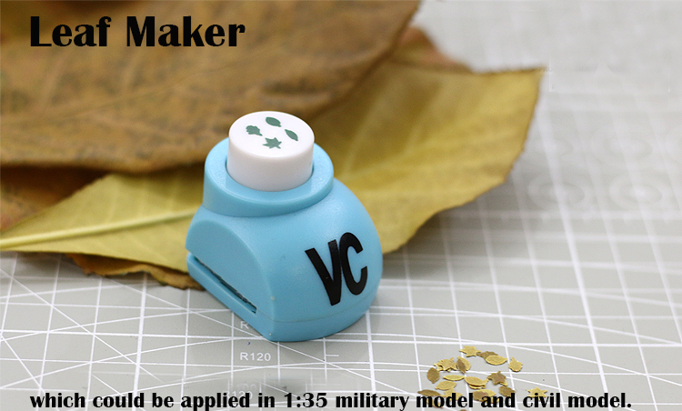Miniature  Military  Train Scene Model  1/35 Real Falling Leaf Maker  Four Leaves Together  DIY Tool