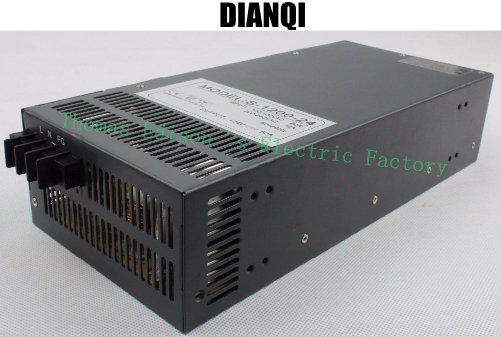 1200W 24V 50A Switching power supply input 110v or 220v for LED Strip light AC to DC power suply 1200w ac to dc power supply aifeng dc 24v switching power supply 1a 2a 3a 5a 15a 25a power supply switching power ac 110v 220v to dc 24v for led strip light