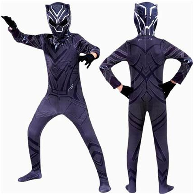 Avengers: Infinity War Black Panther Cosplay Costume kids Halloween Costumes for Bodysuit Jumpsuit With Mask